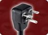 NEMA 6-15P DOWN ANGLE to SPLIT HOME • Power Cords • High Voltage Power Cords • Straight Blade Power Cords -- 1104.072 -Image