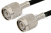TNC Male to TNC Male Cable 72 Inch Length Using 53 Ohm RG55 Coax -- PE3504-72 -Image