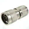 N Male (Plug) to SC Male (Plug) Adapter, Nickel Plated Brass Body, High Temp, 1.25 VSWR -- SM4657 - Image