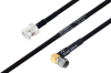 MIL-DTL-17 BNC Male to SMA Male Right Angle Cable 60 Inch Length Using M17/84-RG223 Coax -- PE3M0034-60 -Image