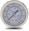 0-160 psi Liquid filled Pressure Gauge with 2.5 inch mechanical dial -- G25-SL160-4CS