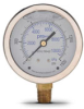 0-1500 psi Liquid filled Pressure Gauge with 2.5 inch mechanical dial -- G25-SL1500-4LB - Image