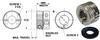 Stroke Adjust Shaft Collars (metric) -- S21SACM20381S