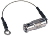 ST Dust Cap for MIL & Ruggedized COTS Couplers, Nickel Plated Brass with Lanyard -- FYK00005