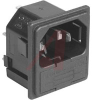 AC RECEPTACLE, POWER INLET W/FUSEHOLDER, SNAP IN MOUNT, SOLDER TAB TERMINAL -- 70133397 - Image
