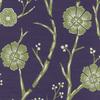 Batik Plum Blossom Fabric -- R-Sensei - Image