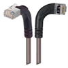 Category 5E Shielded LSZH Right Angle Patch Cable, Right Angle Right/Right Angle Up, Gray, 1.0 ft -- TRD815SZRA12GRY-1 -- View Larger Image
