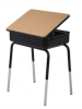 Adj. Desk with Lift Lid Book Box and Armor Edge Top 774AE