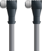 LAPP UNITRONIC® Devicenet™ Thin Extension Cordset (M12's) - 5 positions female M12 90° to 5 positions female M12 90° - Continuous Flex - Gray PVC - 5m -- OLFDN4110071F05 -Image