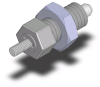 SS Retractable Plunger w/ Threaded End - Non-Hardened Pin w/ Jam Nut - 4 mm - M8 X 1 -- 03092-12206