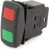 EATON SVR Sealed Rocker Switch, 12A, 12V/24V, On-Off-On, SPDT, SDKMLLFGXXRXXXX -- 43205 - Image