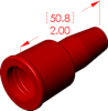 Straight Boot Insulator -- 18003 -- View Larger Image