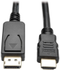 DisplayPort 1.2 to HDMI Adapter Cable, DP with Latches to HDMI (M/M), UHD 4K x 2K/1080p, 3 ft. -- P582-003-V2 -- View Larger Image