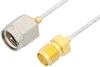 SMA Male to SMA Female Cable 24 Inch Length Using PE-SR047FL Coax -- PE34228-24 -Image