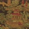 Chinese Scene Lampasso Fabric -- K-Kyoto -- View Larger Image