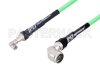 SMA Male Right Angle to N Male Right Angle Low Loss Test Cable 12 Inch Length Using PE-P300LL Coax, RoHS -- PE3C3249-12 -Image