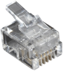 100-Pack RJ11 Unshielded Modular Plug 4-Wire -- FMTP411-100PAK -- View Larger Image