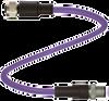 Connection cable -- V15B-G-15M-PUR-ABG-V15B-G