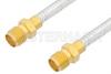 SMA Female to SMA Female Cable 6 Inch Length Using PE-SR402FL Coax, RoHS -- PE33964LF-6 -Image