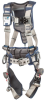 DBI-SALA ExoFit STRATA Grey, Blue Large Vest-Style Shoulder, Back, Leg Padding Body Harness - Polyester Webbing - 840779-10987 -- 840779-10987