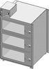 Desiccator Cabinet -- CAP19S-SST-3DR-SGL-18Wx10Hx18D-3B - Image
