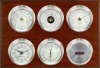 Weathermaster - Wireless, Nickel cases, Silver dials, Mahogany panel