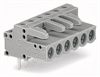 Female connector; with angled solder pins; 6-pole -- 232-236