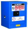 Justrite Sure-Grip EX 4 gal Blue Hazardous Material Storage Cabinet - 17 in Width - 22 in Height - Wall Mount - 697841-15450 -- 697841-15450