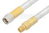SMA Male to SMA Female Cable 12 Inch Length Using PE-SR401FL Coax -- PE34233-12 -Image
