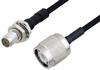 Slide-On BMA Plug Bulkhead to TNC Male Cable 60 Inch Length Using PE-SR405FLJ Coax -- PE3C4863-60 -- View Larger Image