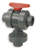 Ball Valve,Three Way,Socket,3/4 In,PVC -- 1RLC1