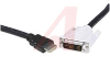 Cable Assy; HDMI to DVI; 19; EMI/RFI -- 70190569