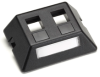 Modular Furniture Faceplate for Steelcase, Haworth, HON, and Knoll Furniture, 2-Port, Black -- WP459-MF