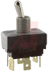 Switch, AC Rated, Toggle, DP, ON-ON, .250 SPADE TERM., 15A@125V;10A@250V -- 70155735 - Image