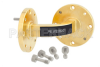 WR-22 Instrumentation Grade Waveguide E-Bend with UG-383/U Flange Operating from 33 GHz to 50 GHz -- PE-W22B001 -Image