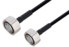Fire Rated 7/16 DIN Male to 7/16 DIN Male Low PIM Cable 200 cm Length Using SPF-250 Coax Using Times Microwave Parts -- PE3C6356-200CM -Image