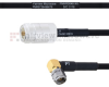 N Female to RA SMA Male MIL-DTL-17 Cable M17/84-RG223 Coax in 48 Inch -- FMHR0046-48 -Image