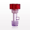 Tuohy Borst Adapter with Red Flat Cap, Threaded Flare Connector