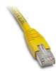ETHERNET CROSSOVER PATCH CABLE, CAT5E STP, 7FT (2.1m), YELLOW -- C5E-STPYL-C7