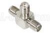Coaxial Adapter, SMA Female / Female / Female -- BA18 - Image