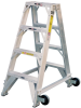 Double Fronted Aluminum Aircraft Ladder