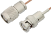 TNC Male to BNC Male Cable 12 Inch Length Using RG178 Coax -- PE39255-12 -Image