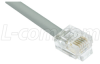 Cat. 5 USOC-4 Patch Cable, RJ11 / RJ11, 7.0 ft -- TRDU45-7