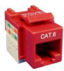 CAT-6, RJ-45 Snap-In connector (Red) -- SN1313-RJ45