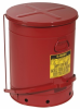 Red Steel Oily Waste Can -- CAN141 -Image