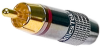 RCA Gold Plug Red Band Solder -- 10-21051