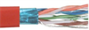 Category 6a F/UTP LSZH 26 AWG 4-Pair Stranded Conductor Red, 1KFT -- TFCLS6005-RED -Image