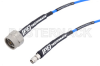 SMA Male to N Male Cable 100 cm Length Using PE-P141 Coax with HeatShrink, LF Solder, RoHS -- PE354-100CM -Image