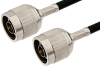 N Male to N Male Cable 24 Inch Length Using 53 Ohm RG55 Coax -- PE3499LF-24 -Image