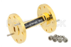 WR-19 45 Degree Left-hand Waveguide Twist With a UG-383/U-Mod Flange Operating From 40 GHz to 60 GHz -- PE-W19TW1002 - Image